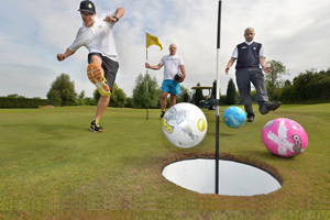 try out foot golf!