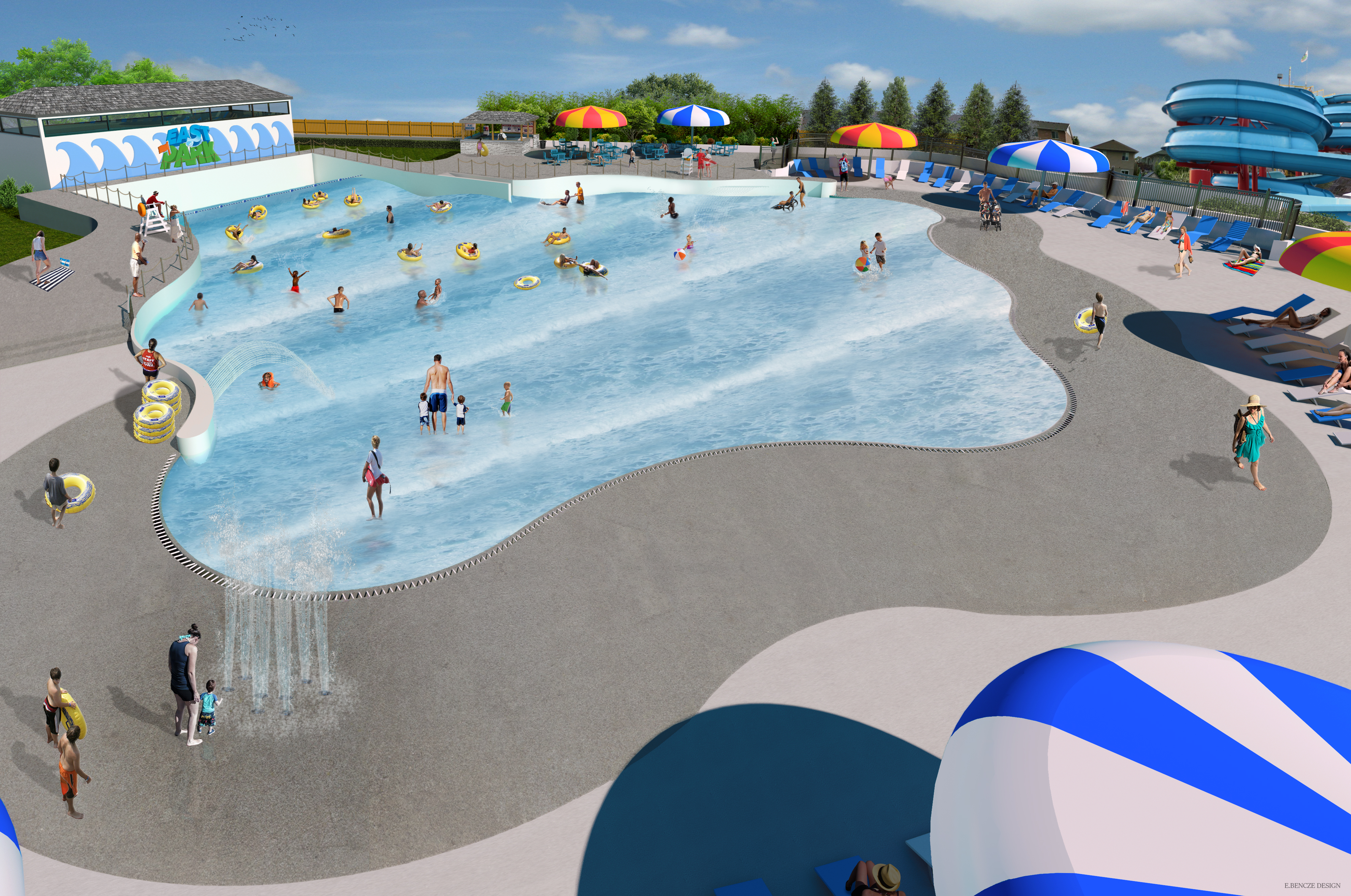 Water park in london ontario east park for Pool design london ontario
